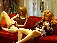 Lesbian sex and a threesome from hot porno 1980