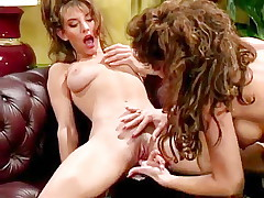 80s porn girls finger each other's shaved pussies