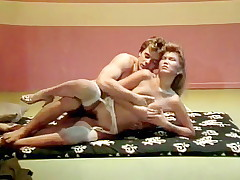 Young horny couple has sex for classic porn