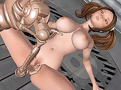 Chick drills terminator in 3D hentai