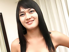 Long ladyboy unloads a pint of ladyboy cream