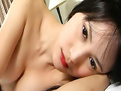 Massage ladyboy gets covered in creamy spunk