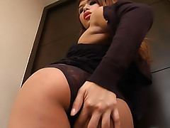 See Ant jerk her chubby ladyboy cock