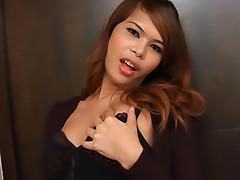 Watched wicked wanking ladyboy in hot stockings