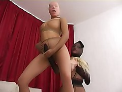 Two pantyhose crazy chickies have lesbian sex