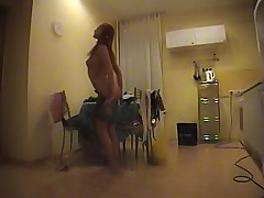 Hot voyeur clips of an unsuspecting naked girl