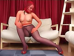 Three pairs of colored pantyhose for one babe