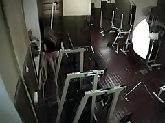 Longhaired chick caught on gym hidden cam