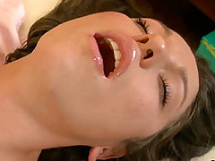 Intimate massage of an excited oiled babe