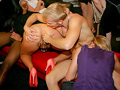 Innocent drunk chicks penetrated by horny male strippers