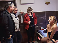 Filthy hooker with a giant ass pleasing a Russian couple