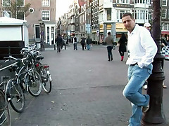 A tourist explores the Red Light District before he fucks