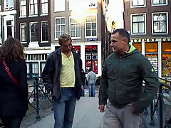 Tourist hunting for a real blonde window hooker to fuck