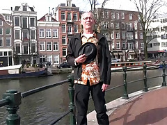 Crazy amsterdam hooker spitting cum back into his mouth