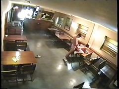 Big closed bar is a fuck platform watched by security cam