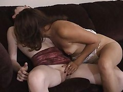 Slim lesbian hotties Vicci and Emerals licks and fingers their skinny pussies