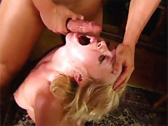Awesome blonde girl gets fucked and jizzed