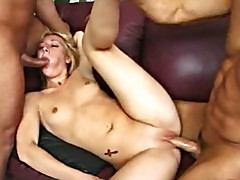 Two boys and a slut finding extreme pleasure