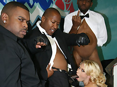 Movies of a gangbang that turns white girl into a creamy mess