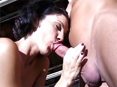 Shaved pussy sweetie gets wildly screwed
