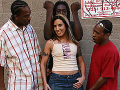 Fiona Cheeks in new interracial gangbang