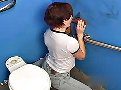 Amatuer interracial gloryhole blowjob and cumeating