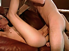 Sweet ass stretched by big fat dick