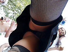 Wild outdoor party with hard fucking