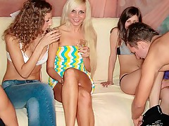 Hot orgy with coed girls