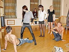 Drunk party games turned into group orgy