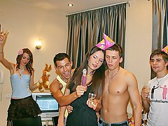 Anal sex and facial on a birthday party