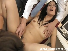 Mai Mizusawa gets her ass licked in this gangbang video