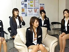 Japanese AV Model and other misses in uniform undressed by studs