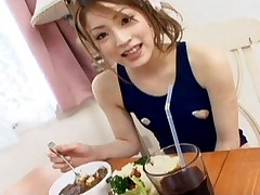 Yuu Mahiru Hot Asian babe enjoys a good breakfast to start her busy day