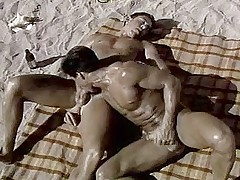 Retro Beach Blanket Boner sex xxx