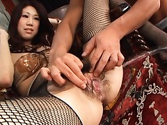 Fuuka Takanashi moans as her hairy pussy is licked by a guy