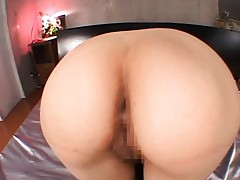 Yuria Satomi Asian with big butt gets anal dildos in asshole