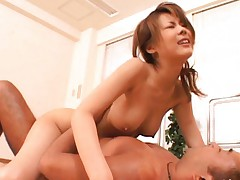Sakurako screaming like hell as her vagina is pumped like crazy