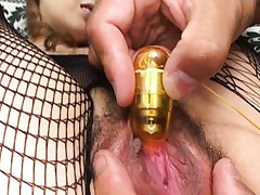 Aya Sakaki's clit is teased with a vibrator to make her horny
