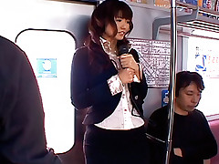 Teen slut enjoys taking her dates on the train for a blow job or fucking