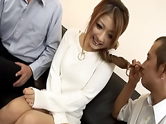 Hibiki Ohtsuki Asian call girl is odd and gets vaginal celery salad
