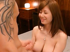 Yuma Asami cute busty girl teasing him with he amazing breasts
