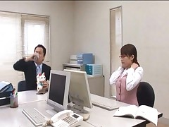 Kirara Kurokawa is a secretary fucked by her boss on the office table