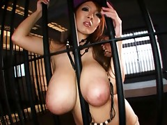 Hitomi Tanaka busty doll arouses guy with huge tits