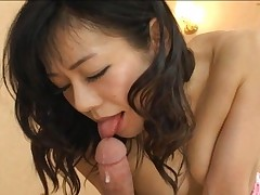 Yuna Minami  Asian gal gets a cock ride and creampied by her guy