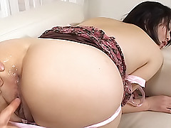 Rina Asaka sex obsessed Asian slut enjoys exposing her wet steamy pussy to fuck