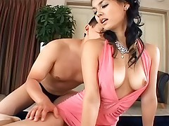 Gorgeous Asian slut is getting her anus plowed by her date for the night