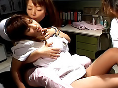 Night Nurses naughty Asian tramps excited and ready for a threeway