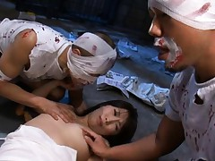 Nozomi Mitani in a bizarre anal video at a crazy hospital