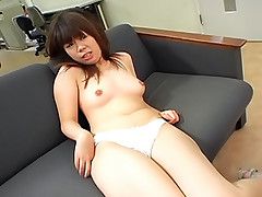 Yumi Takeda Asian chick is playing a hot game with dildos and sucking on them